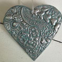Pewter Zentangle Heart