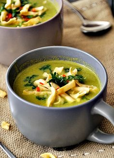 Thai-style pea & apple soup.
