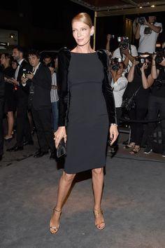 Uma Thurman attends the Tom Ford fashion show during New York Fashion Week.