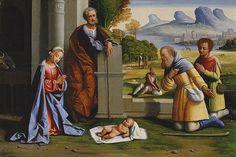 L'ORTOLANO (Giovanni Battista Benvenuti) - L'Adorazione dei pastori - inizio 1500 - The Metropolitan Museum of Art, New York
