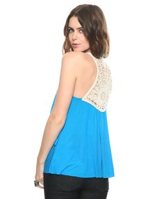 Tiered Crochet Back Tank | FOREVER21 - 2000040653