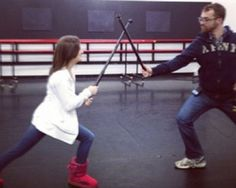 Brooke fighting a producer :) haha