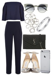 """""""Untitled #90"""" by voiceforfashion ❤ liked on Polyvore featuring TIBI, Yves Saint Laurent, Jimmy Choo, Forever 21 and GUESS"""
