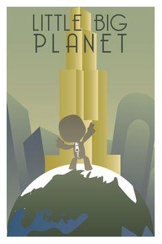 Little Big Planet Art Deco Poster 1/3 by Kiasrai