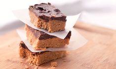 NoBake SaltySweet Peanut Butter Bars | Dashrecipes.com