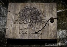 I'm seeing something really cool in my head for a wall in the maincave. Burn a tree onto a wall - but use real lights on a string with giant bulbs to illuminate the room/wall/tree Wedding Pins, Our Wedding, Wedding Ideas, Oak Tree Wedding, Guest Book Tree, Rustic Wedding Guest Book, Wedding Signage, Rustic Signs, Tree Wall