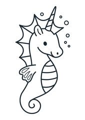 Cute unicorn with purple mane simple cartoon vector illustration Seahorse Drawing, Unicorn Drawing, Unicorn Art, Cute Unicorn, Cartoon Fish, Cartoon Unicorn, Cartoon Bee, Mermaid Coloring Pages, Cartoon Coloring Pages