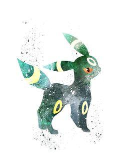 Umbreon, Umbreon Pokemon Alternative print, Watercolor alternative poster…