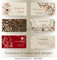 set of business cards designs