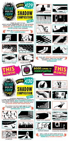 How to draw SHADOW COMPOSITIONS tutorial by STUDIOBLINKTWICE.deviantart.com on @DeviantArt