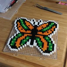 Butterfly perler beads by kerthan72