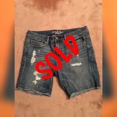 "AE•American Eagle•Denim •Jean•Distressed Shorts Brand New and never worn, these are great shorts. Too small for me. These are a generous size 8 and are made to give you that worn in look like your favorite shorts give you!! 9""rise•17"" waist•Can sit low, if you are thinking 17"" might ""sound"" big...16"" leg•8""inseam•100% cotton•stitched at the bottom of each leg to prevent ripping. American Eagle Shorts Jean Shorts"