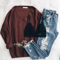 Love the jeans and jumper .