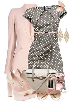 Pink and poka dots. very stylish.