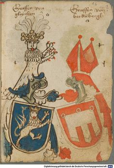 Ortenburger Wappenbuch Bayern, 1466 - 1473 Cod.icon. 308 u  Folio 16r