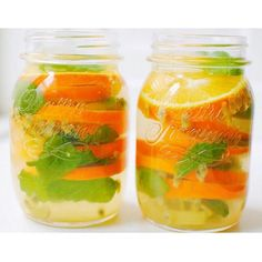 INFUSED WATER WITH GINGER,ORANGE,PASSION FRUIT AND MINT