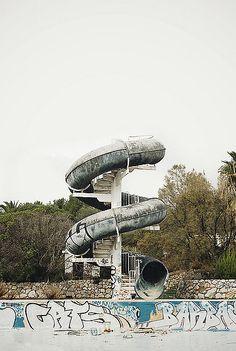 Abandoned water slide.