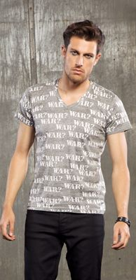 "LIP SERVICE LSMPA ""War?"" tshirt #M16-385"