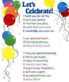 Celebrate teachers! #teacher #appreciation