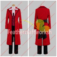 *Those items are handmade to order  *What you will receive Coat,Vest,Shirt,Pants,Tie, Back tie  Measurement of your size Costume is handmade