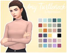Amy TurtleneckAnother shirt? Yes - but for ladies this time :^) I saw the turtleneck on one of the new outfits and I knew I had to turn it into a top… obviously tucked in, too! So here it is, a...