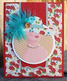 Fashionable Feathery hats card