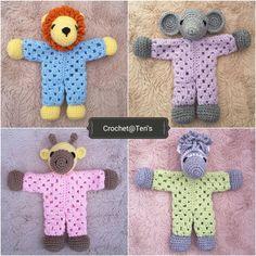 Ravelry: Safari Slumber Party Granny Hexagon Loveys pattern by Crochet at Teri's Crochet Dolls, Crochet Yarn, Free Crochet, Crochet Lovey Free Pattern, Crochet Granny, Amigurumi Patterns, Crochet Patterns, Knitted Teddy Bear, Paintbox Yarn