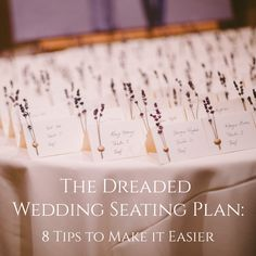 The Dreaded Wedding Seating Plan: 8 Tips to Make it Easier from Burgh Brides