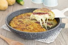 Torta+di+patate+e+zucchine+in+padella
