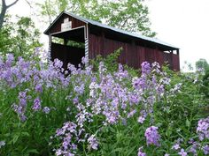 Jud Christian Covered Bridge in the Spring