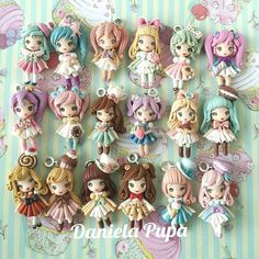 Imagen relacionada Cute Polymer Clay, Polymer Clay Dolls, Polymer Clay Charms, Clay Crafts, Arts And Crafts, Clay People, Biscuit, Doll Tutorial, Clay Animals