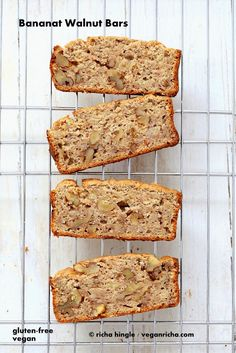 This gluten free Banana Bread makes a great breakfast. With walnuts. No added refined sugar, loads of banana, spices & goodness. Vegan Banana Bread. Gluten-free Recipe