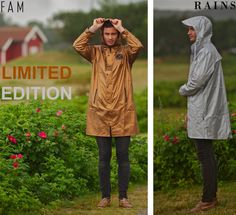 RAINS - limited edition rainwear in silver and bronze ☔️