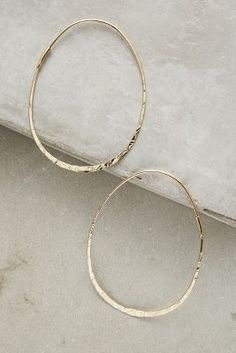 Threaded Hoops | Anthropologie