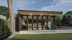 The California is our flagship garden room from our signature range of designs the uses are limitless. Taking its inspiration from one of our bespoke garden rooms this unique structure maximises sunlight with a corner bi -folding door system. As with our entire range of garden rooms a variety of different cladded finishes can be used. All of our garden rooms can be tailored to fit your needs and own unique taste.. This room is complemented with stone cladding.. the choice is yours..