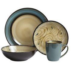 Teal Peacock Dinnerware