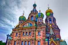 The Church of the Savior on Spilled Blood in Saint Petersburg.  This marvelous Russian-style church was built on the spot where Emperor Alexander II was assassinated on March 1 1881. Constructed between 1883 and 1907, the church was designed in the spirit of sixteenth- and seventeenth century Russian architecture, inspired particularly by St Basil's Cathedral on Red Square in Moscow.