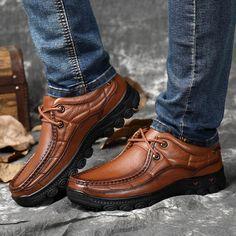 2e380768 62.32 30% de DESCUENTO|Los hombres zapatos de trabajo británico de 100%  casuales de negocios de cuero genuino zapatos de charol negro zapatos para  caminar ...