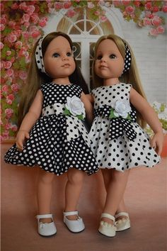 Baby Girl Dress Patterns, Baby Dress Design, Little Girl Dresses, Sewing Patterns Girls, Sewing Doll Clothes, Baby Doll Clothes, Doll Clothes Patterns, American Girl Dress, American Doll Clothes