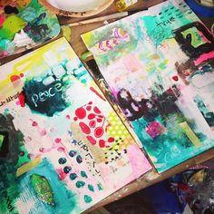 Christy Tomlison creative mixed media work...
