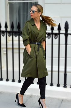 i wear my wages | khaki trench coat topshop