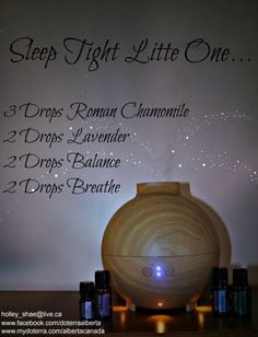 Sleep Tight Little One...Does your little one have trouble sleeping at night? Check out this DoTerra Recipe!