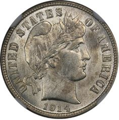 Barber silver dimes were produced during the years 1892 through public domain photo. Rare Coins Worth Money, Valuable Coins, Silver Dimes, Silver Coins, Coin Jar, Coin Worth, Coin Values, Coins For Sale, Old Money
