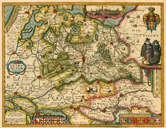 Antique map of Utrecht by P. Kaerius (Van den Keere). | Sanderus Antique Maps