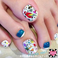 Flicka nail arts toenails