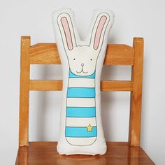 Bunny Pillow now featured on Fab. [Baby, Children, Kids, Kate Durkin]