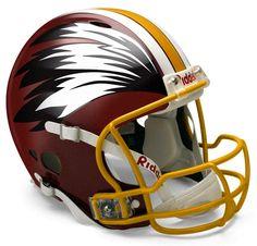 Washington Redskins concept football helmet - Yes Redskins Helmet, Cool Football Helmets, Redskins Baby, Redskins Logo, Redskins Football, Football Fans, Helmet Logo, Nfl Gear, Nfl History