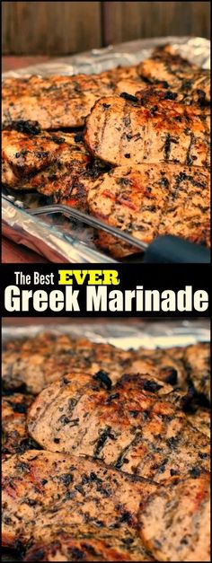 The Best Greek Marinade for Chicken, Steak & Pork - Aunt Bee& Recipes - Chicken Dishes - Pork Marinade Recipes, Grilling Recipes, Meat Recipes, Chicken Recipes, Cooking Recipes, Cooking Beef, Cooking Oil, Recipies, Healthy Recipes