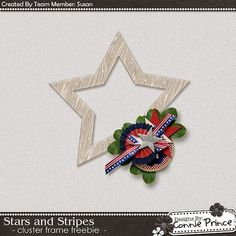 Scrapbooking TammyTags -- TT - Designer - Connie Prince, TT - Item - Frame, TT - Style - Cluster, TT - Theme - Patriotic or July 4th