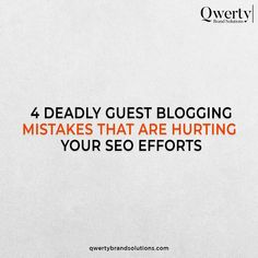 Make sure you don't make these 4 deadly mistakes and write effective guest posts that could lift brand awareness and traffic. Swipe left to see more. . . #searchengineranking #seotricks #seoexperts #brandinghelp #brandingadvice #smallbusinessmarketing #organicreach #qwertybrandsolutions #guestpost #guestposting Top Digital Marketing Companies, Small Business Marketing, Online Marketing, Seo Agency, Best Seo, Web Development, Mistakes, Posts, Writing